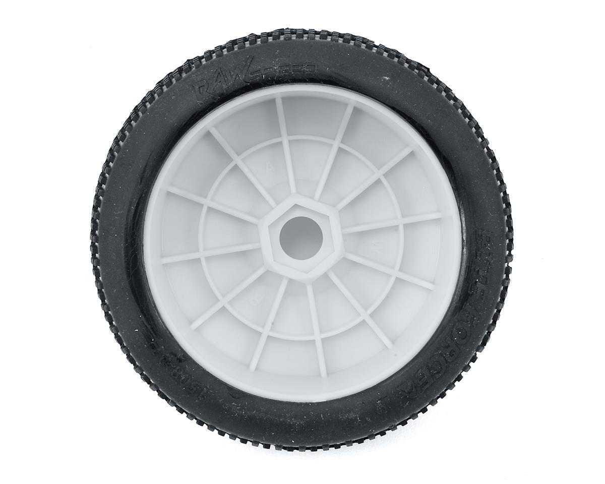 Raw Speed RC Biteforce 1/8 Buggy Pre-Mounted Tires (2) (White) (Super Soft)