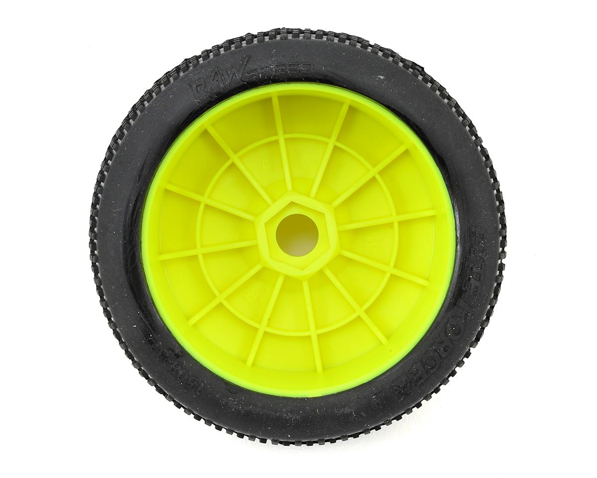 """Biteforce"" 1/8 Buggy Pre-Mounted Tires (2) (Yellow) (Soft) by Raw Speed RC"