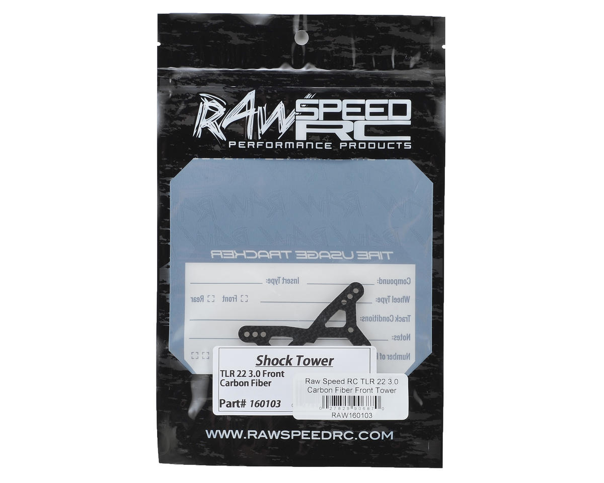 Raw Speed RC TLR 22 3.0 Carbon Fiber Front Tower