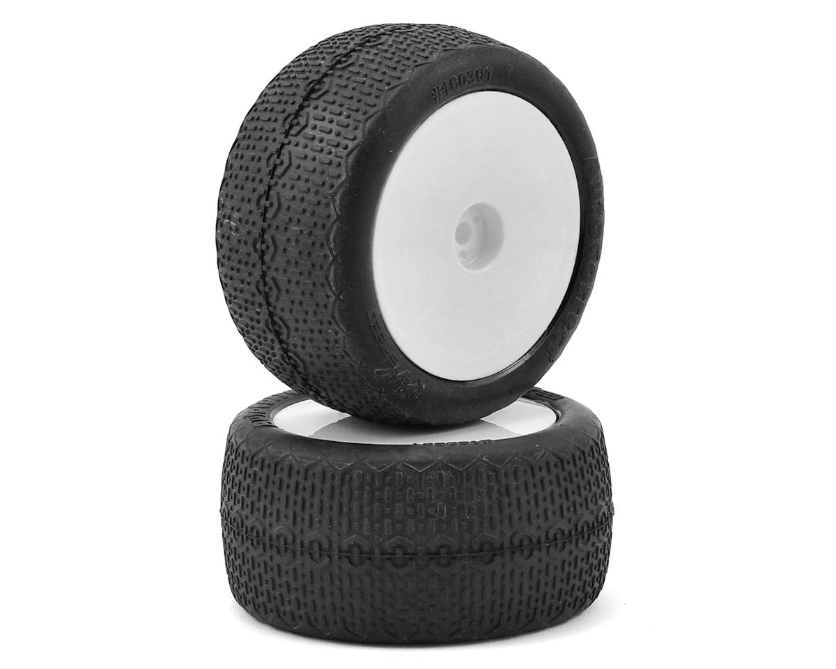 Raw Speed RC Autocorrect 2.2 1/10 Rear Buggy Premounted Tire (2) (White) (Clay)