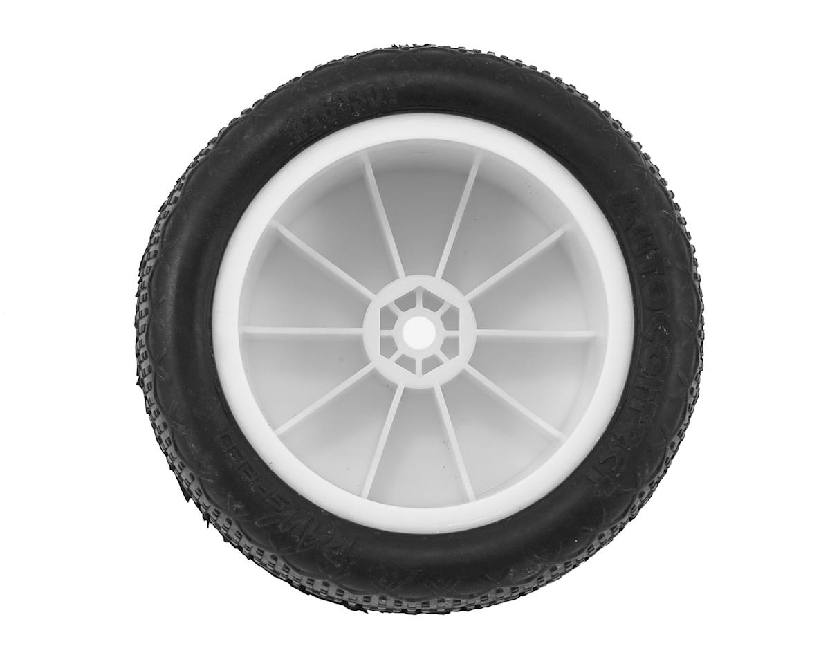 """Raw Speed RC """"Autocorrect"""" 2.2"""" 1/10 Rear Buggy Pre-Mounted Tire (2) (White) (Clay)"""