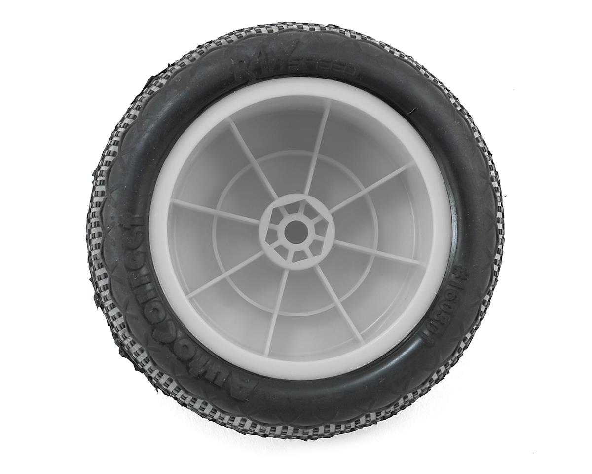 Raw Speed RC Autocorrect 2.2 1/10 Rear Buggy Premounted Tire (2) (White) (Super Soft)