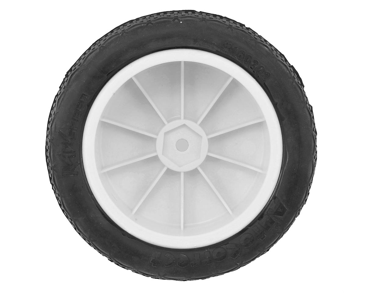 "Raw Speed RC Autocorrect 2.2"" 1/10 2WD Front Pre-Mounted Tire (White) (2) (Clay)"