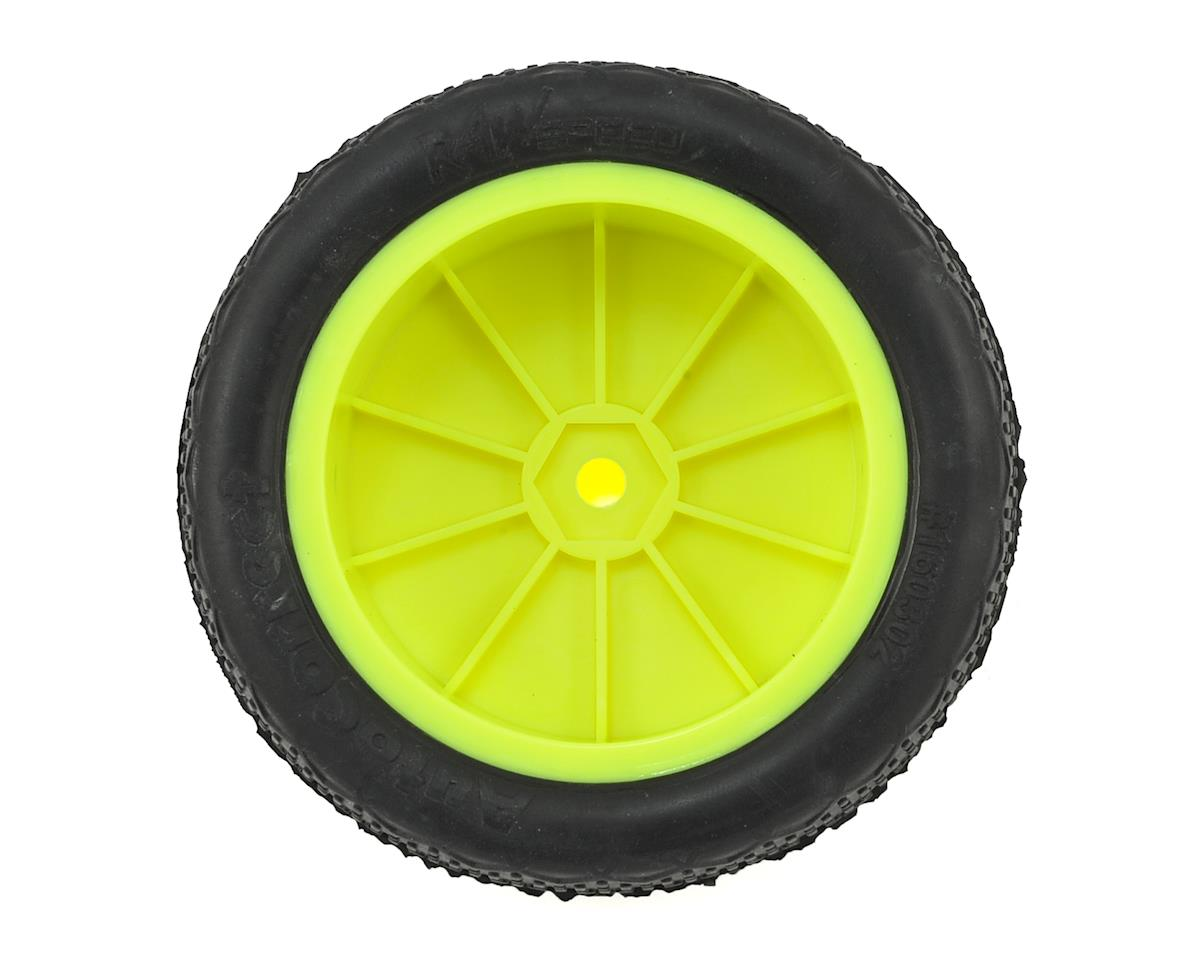 "Raw Speed RC ""Autocorrect"" 2.2"" 1/10 2WD Front Pre-Mounted Tire (Yellow) (2) (Clay)"