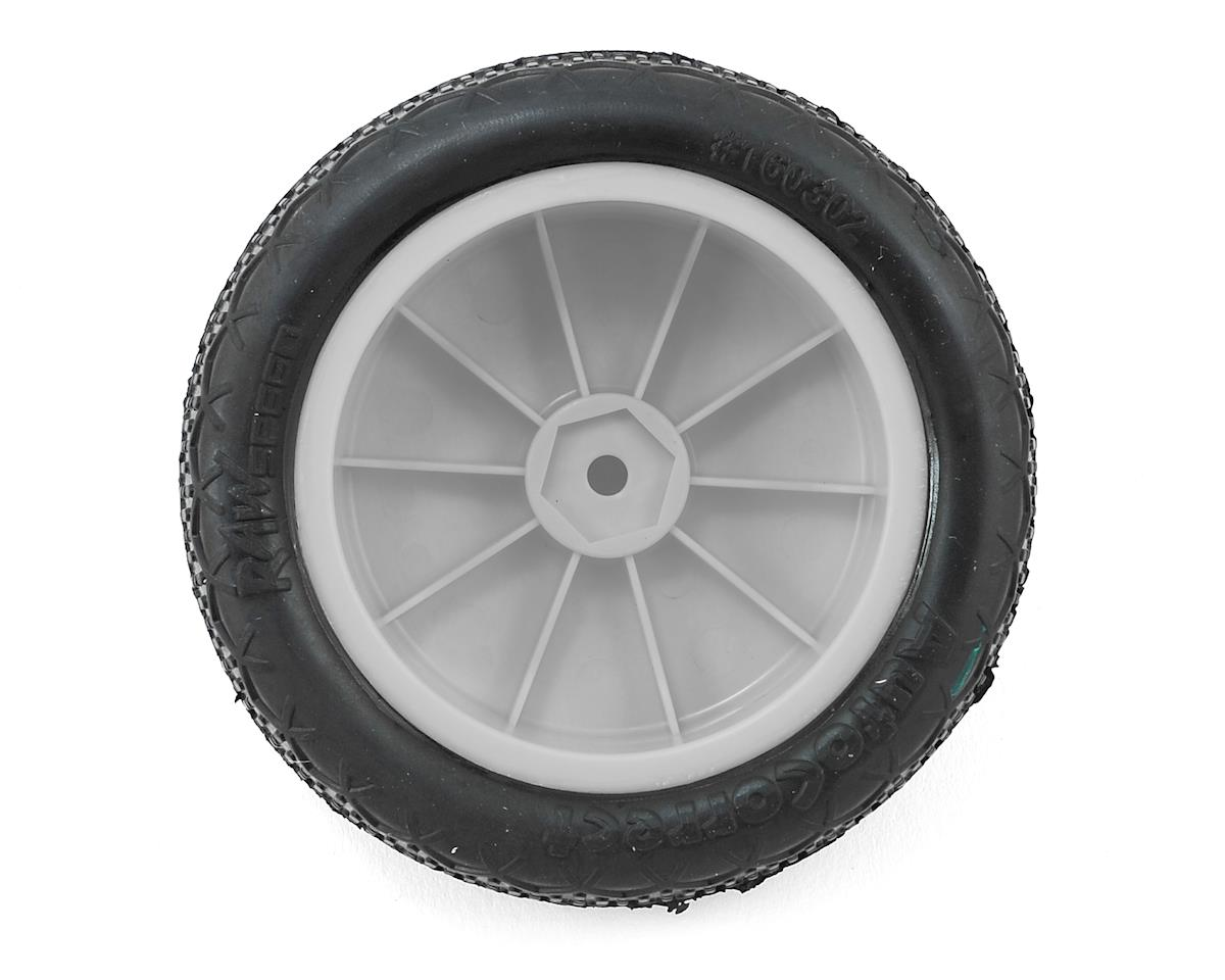 "Raw Speed RC Autocorrect 2.2"" 1/10 2WD Front Pre-Mounted Tire (White) (2) (Super Soft)"
