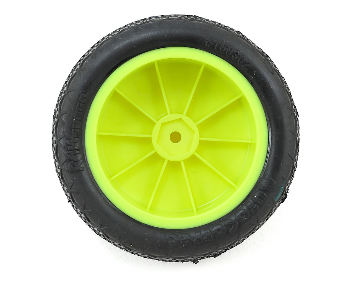 "Raw Speed RC Autocorrect 2.2"" 1/10 2WD Front Pre-Mounted Tire (Yellow) (2) (Super Soft)"