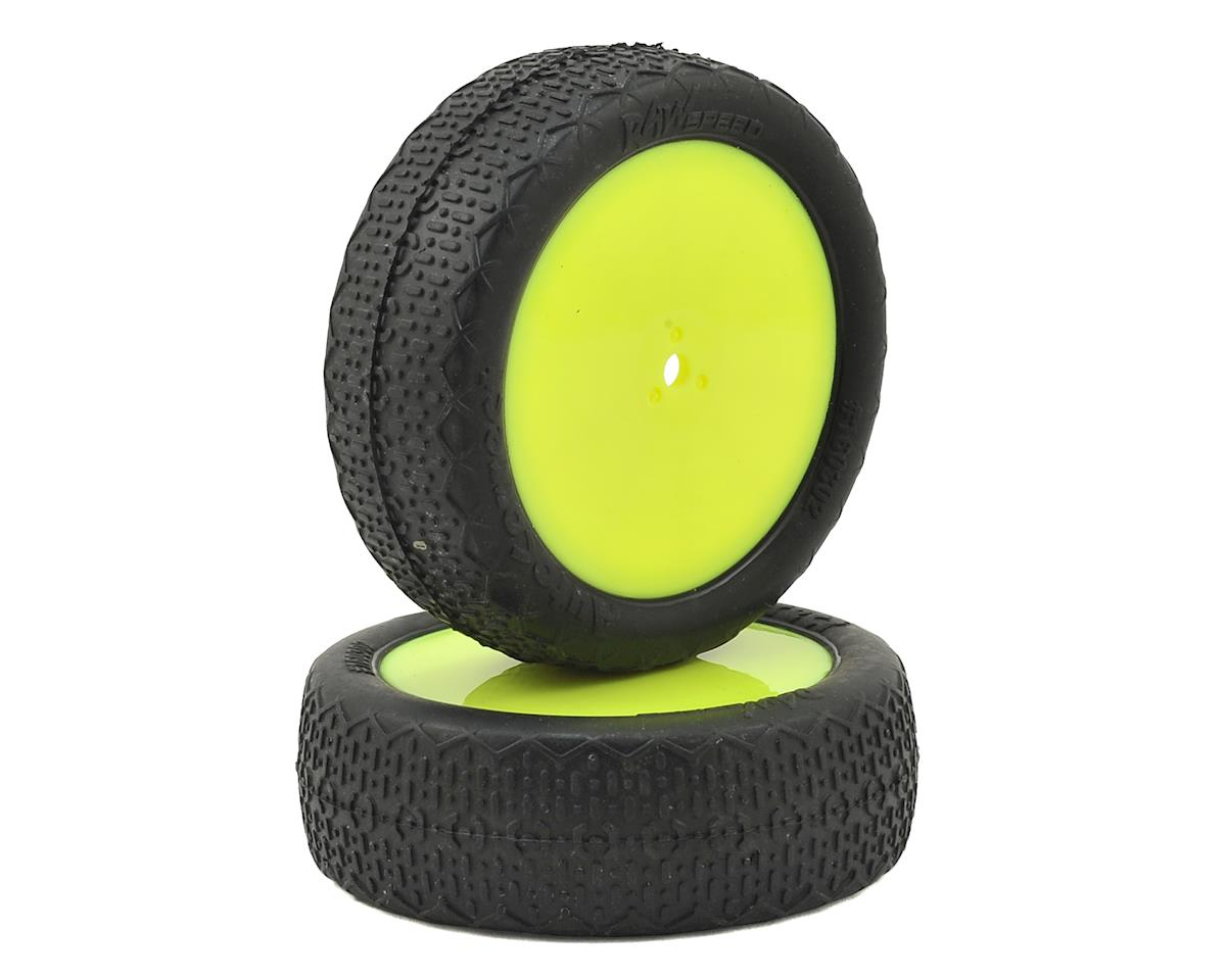 """Raw Speed RC """"Autocorrect"""" 2.2"""" 1/10 2WD Front Pre-Mounted Tire (Yellow) (2) (Soft)"""