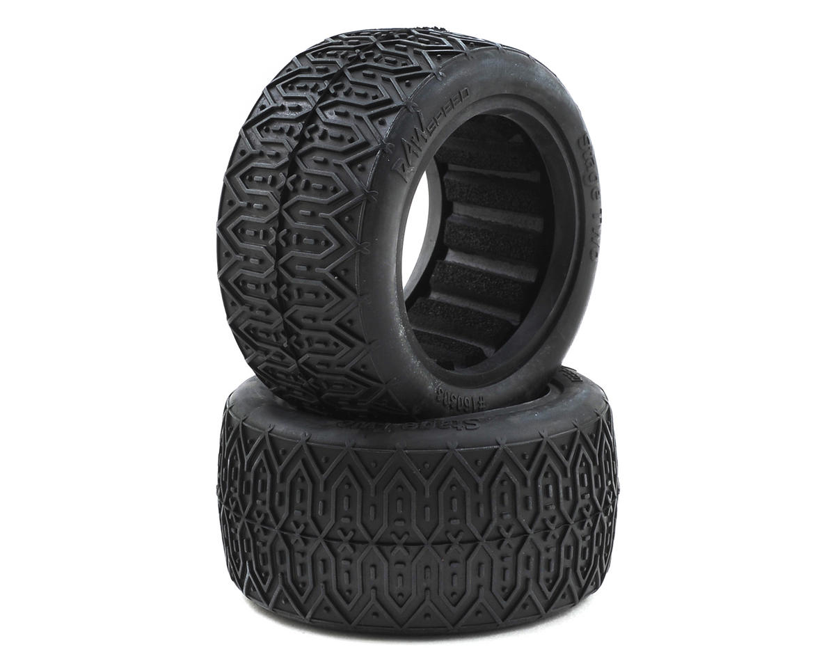 "Raw Speed RC Stage Two 2.2"" 1/10 Rear Buggy Tires (2) (Clay)"