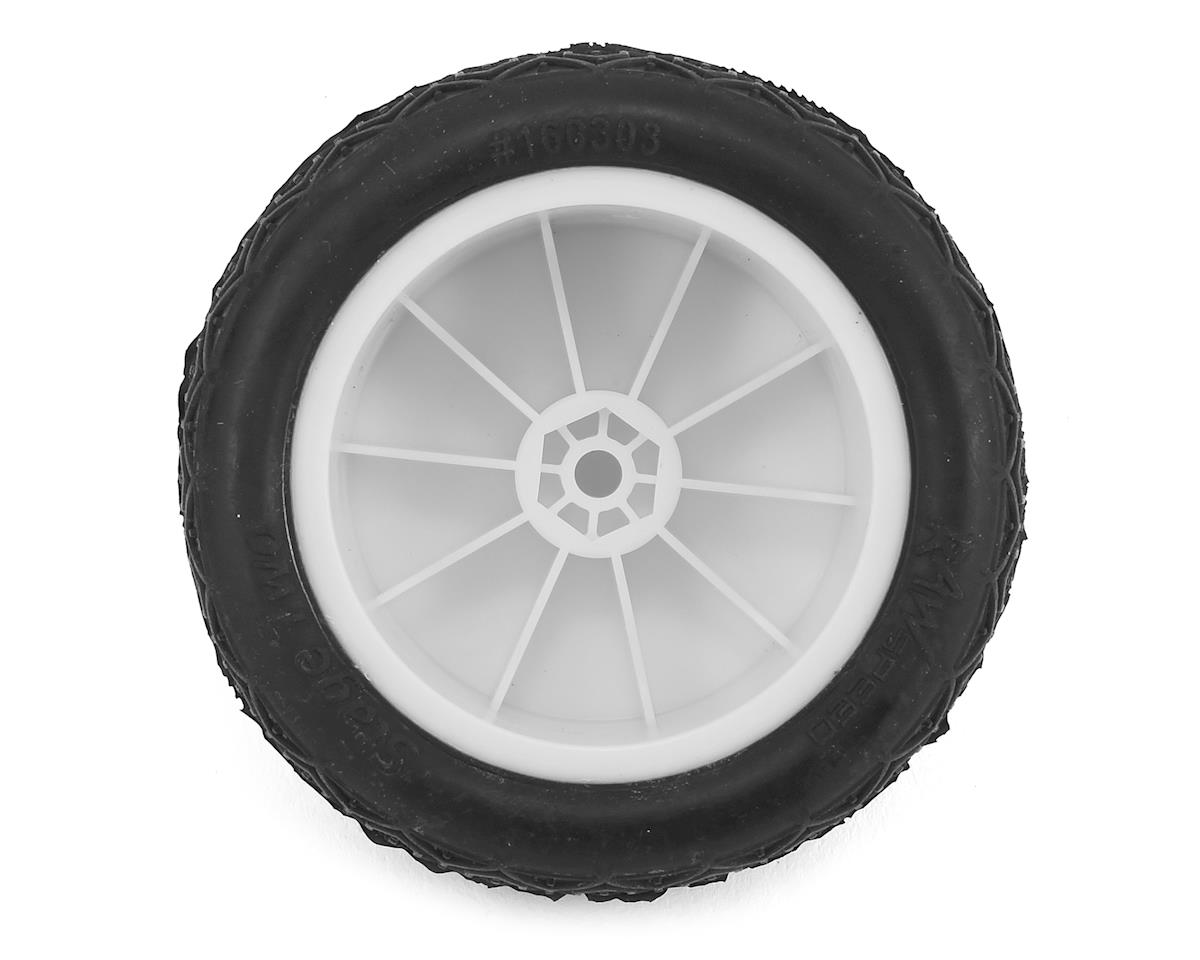 "Raw Speed RC Stage Two 2.2"" 1/10 2WD Rear Pre-Mounted Tire (White) (2) (Clay)"