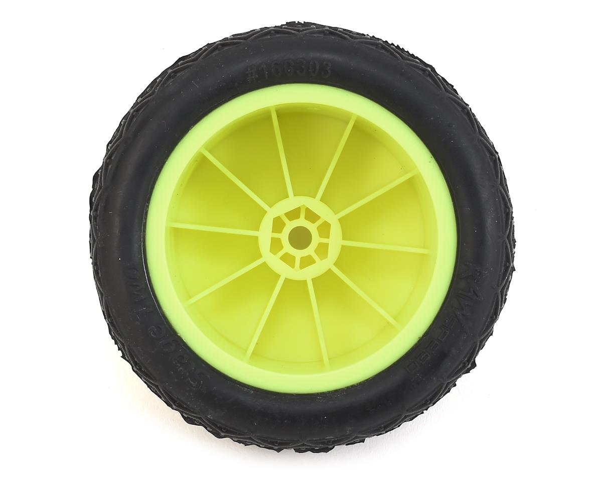 "Raw Speed RC Stage Two 2.2"" 1/10 2WD Rear Pre-Mounted Tire (Yellow) (2) (Clay)"