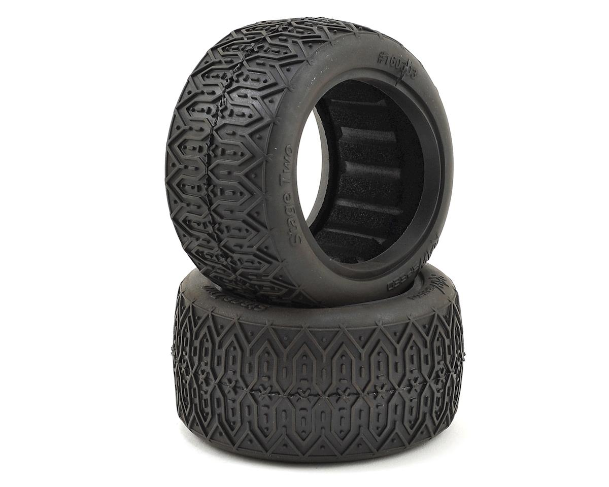 "Stage Two 2.2"" 1/10 Rear Buggy Tires (2) (Super Soft) by Raw Speed RC"