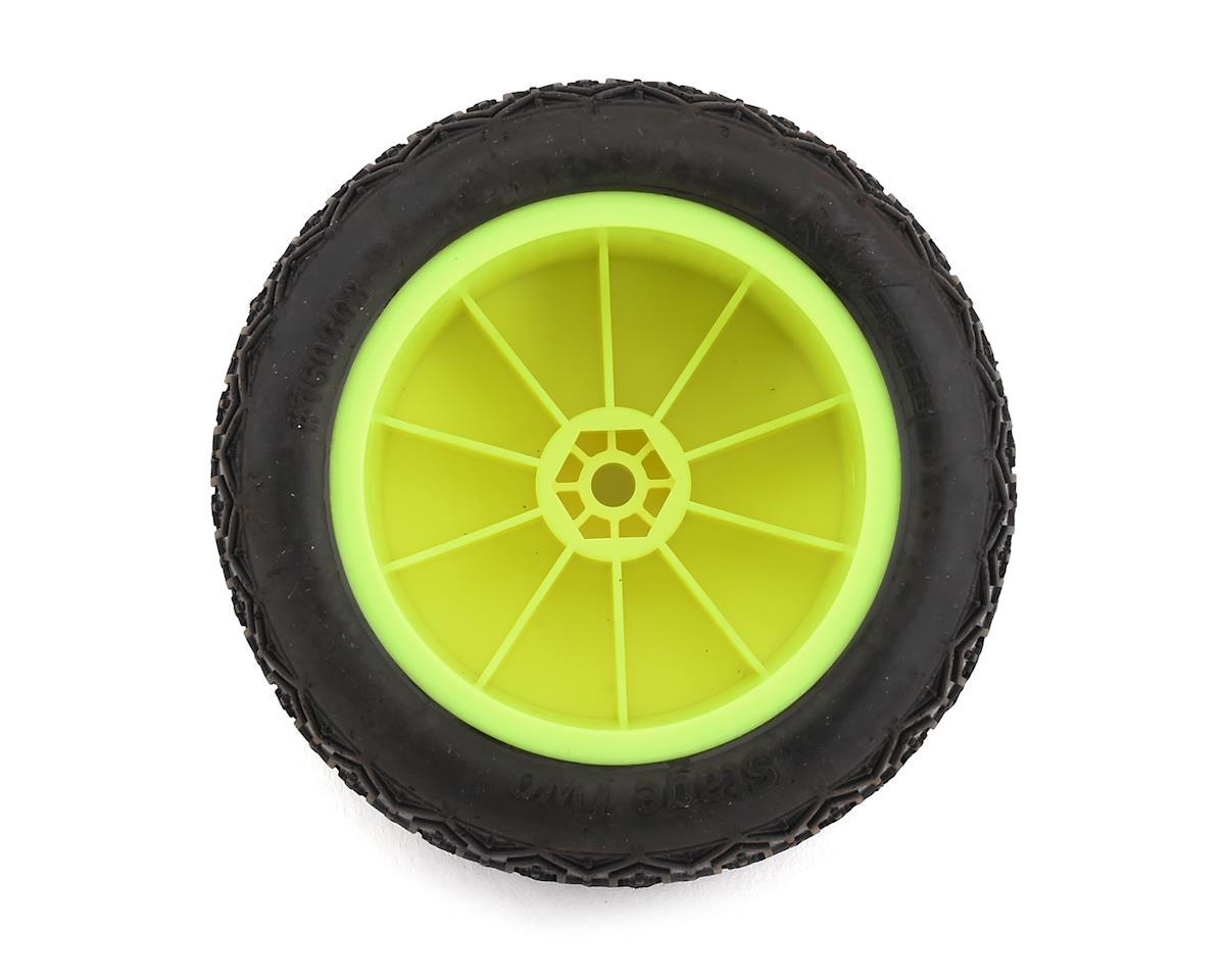 "Raw Speed RC Stage Two 2.2"" 1/10 2WD Rear Pre-Mounted Tire (Yellow) (2) (Super Soft)"