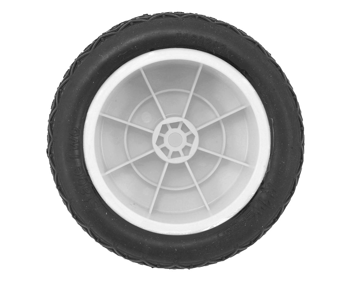 "Raw Speed RC Stage Two 2.2"" 1/10 Rear Buggy Pre-Mounted Tires (2) (White) (Soft)"