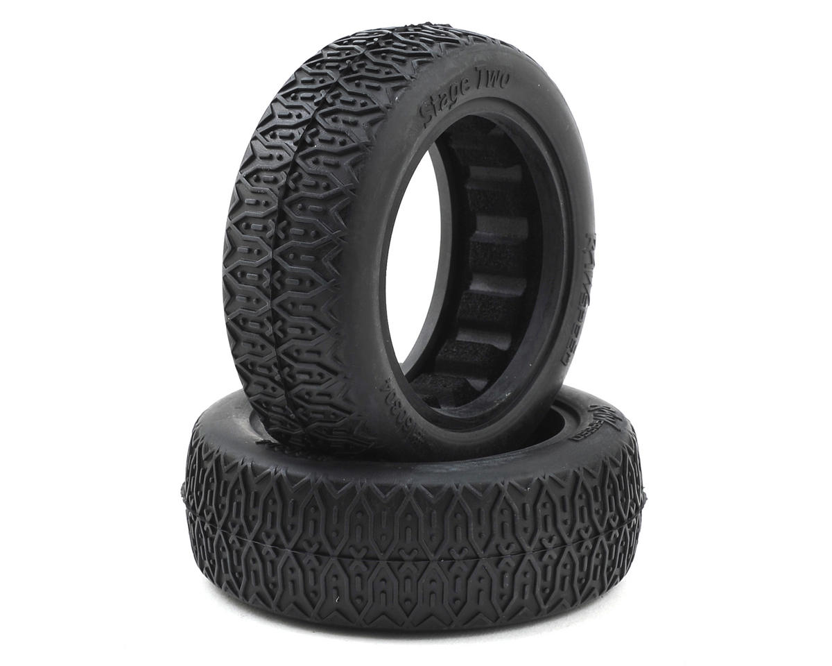 "Raw Speed RC Stage Two 2.2"" 1/10 2WD Front Buggy Tires (2) (Clay)"