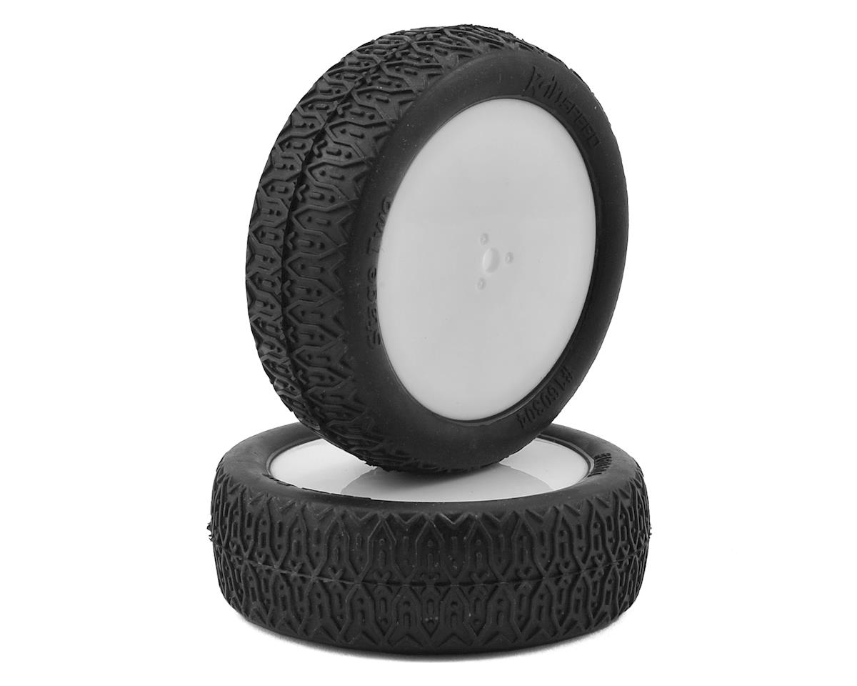 "Raw Speed RC ""Stage Two"" 2.2"" 1/10 2WD Front Pre-Mounted Tire (White) (2) (Clay)"