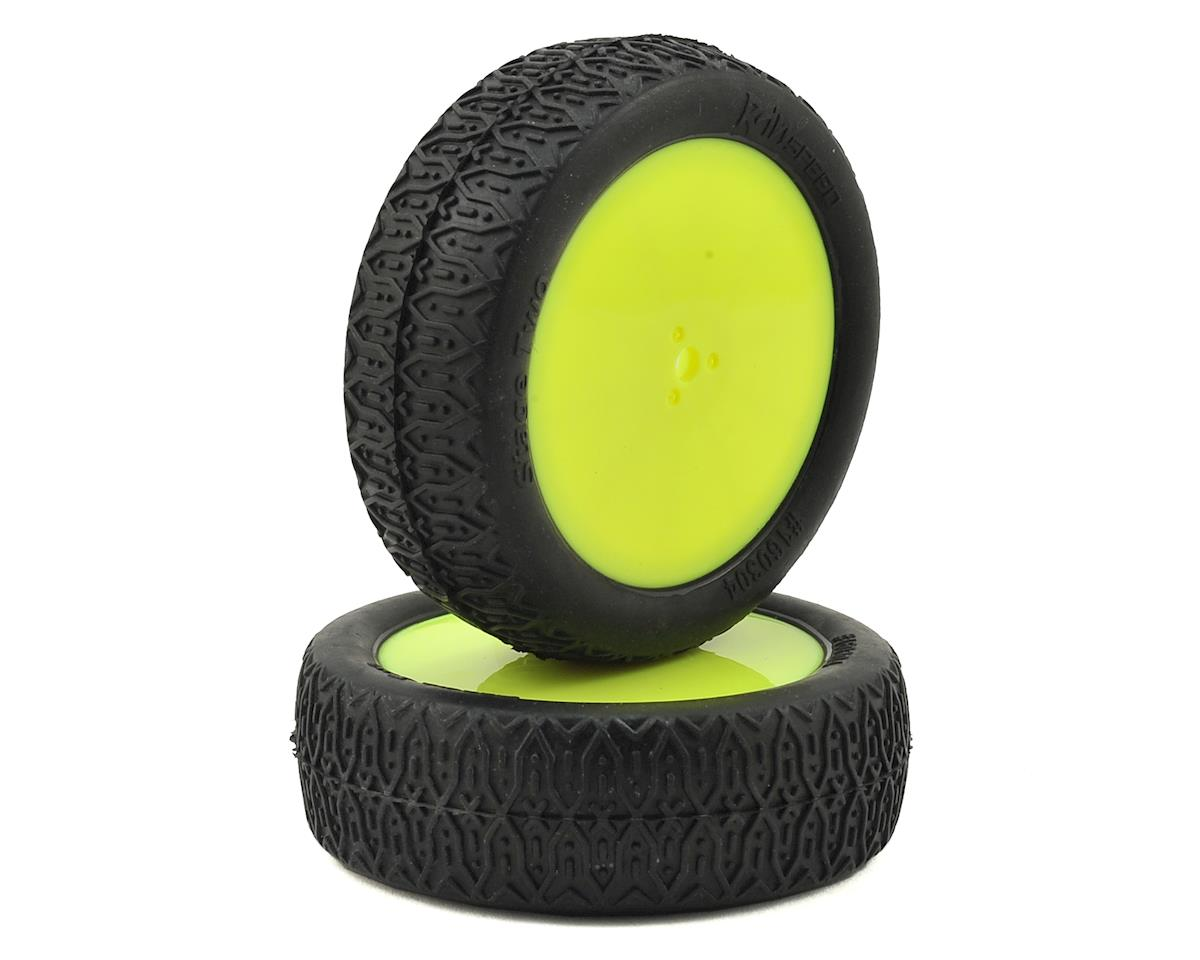"Raw Speed RC ""Stage Two"" 2.2"" 1/10 2WD Front Pre-Mounted Tire (Yellow) (2) (Clay)"