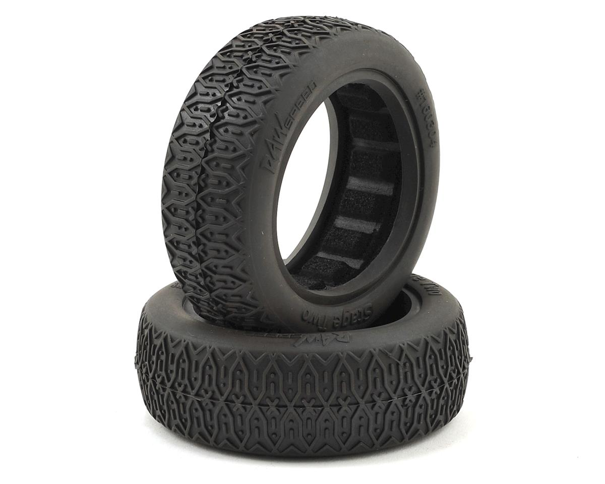 "Raw Speed RC Stage Two 2.2"" 1/10 2WD Front Buggy Tires (2) (Super Soft)"