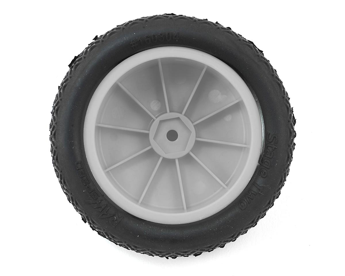 "Raw Speed RC Stage Two 2.2"" 1/10 2WD Front Pre-Mounted Tires (White) (2) (Super Soft)"