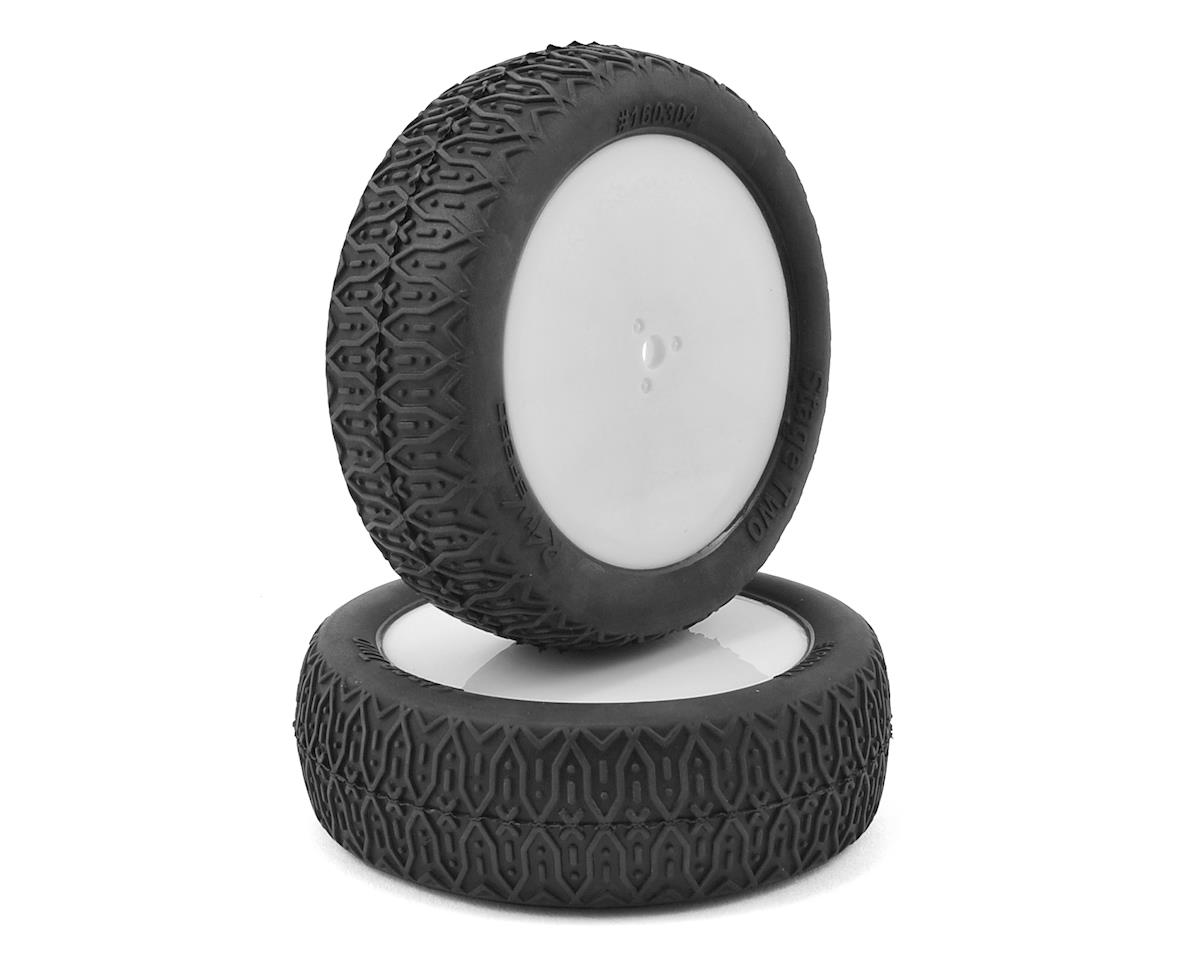 "Raw Speed RC ""Stage Two"" 2.2"" 1/10 2WD Front Pre-Mounted Tire (White) (2) (Losi 22 4.0)"