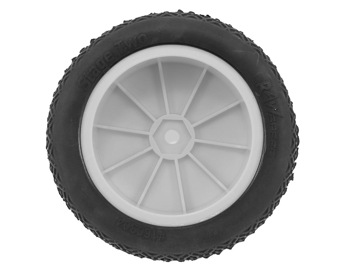 """Raw Speed RC """"Stage Two"""" 2.2"""" 1/10 2WD Front Pre-Mounted Tire (White) (2) (Super Soft)"""