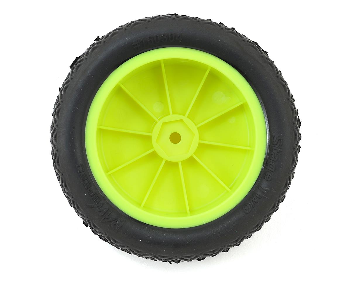 "Raw Speed RC Stage Two 2.2"" 1/10 2WD Front Pre-Mounted Tires (Yellow) (2) (Super Soft)"