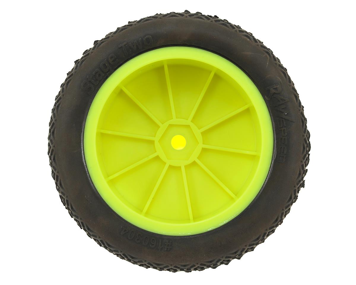 "Raw Speed RC ""Stage Two"" 2.2"" 1/10 2WD Front Pre-Mounted Tire (Yellow) (2) (Super Soft)"