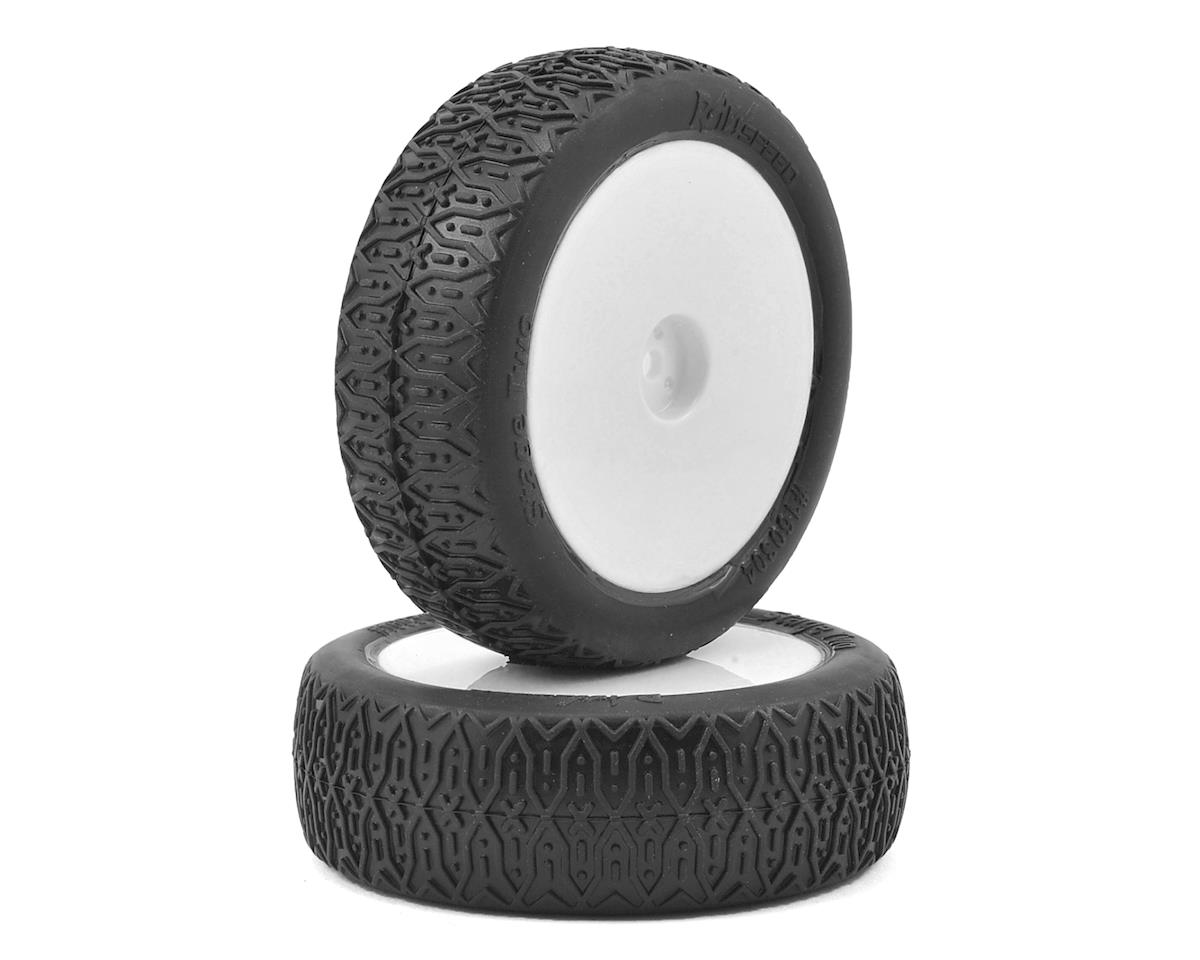 "Raw Speed RC Stage Two 2.2"" 1/10 2WD Front Pre-Mounted Tires (White) (2) (Soft)"