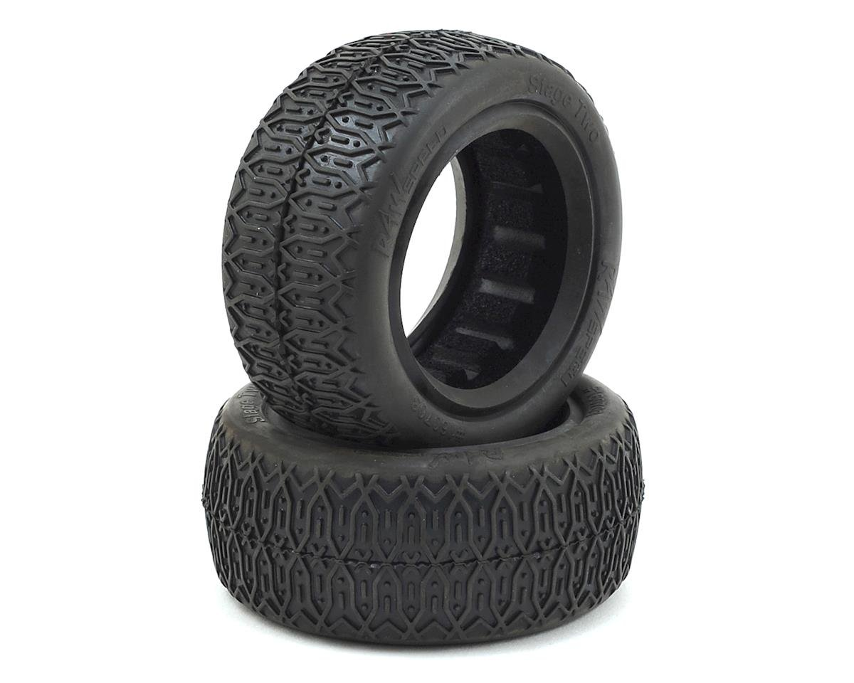 Raw Speed RC Stage Two Front 4WD Buggy Tires (2)