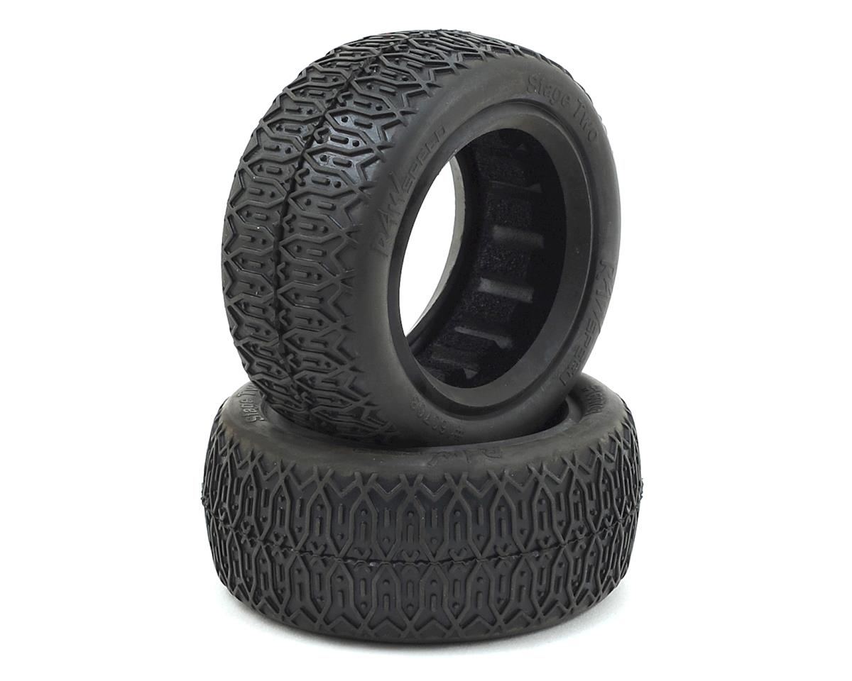 Raw Speed RC Stage Two Front 4WD Buggy Tires (2) (Clay)