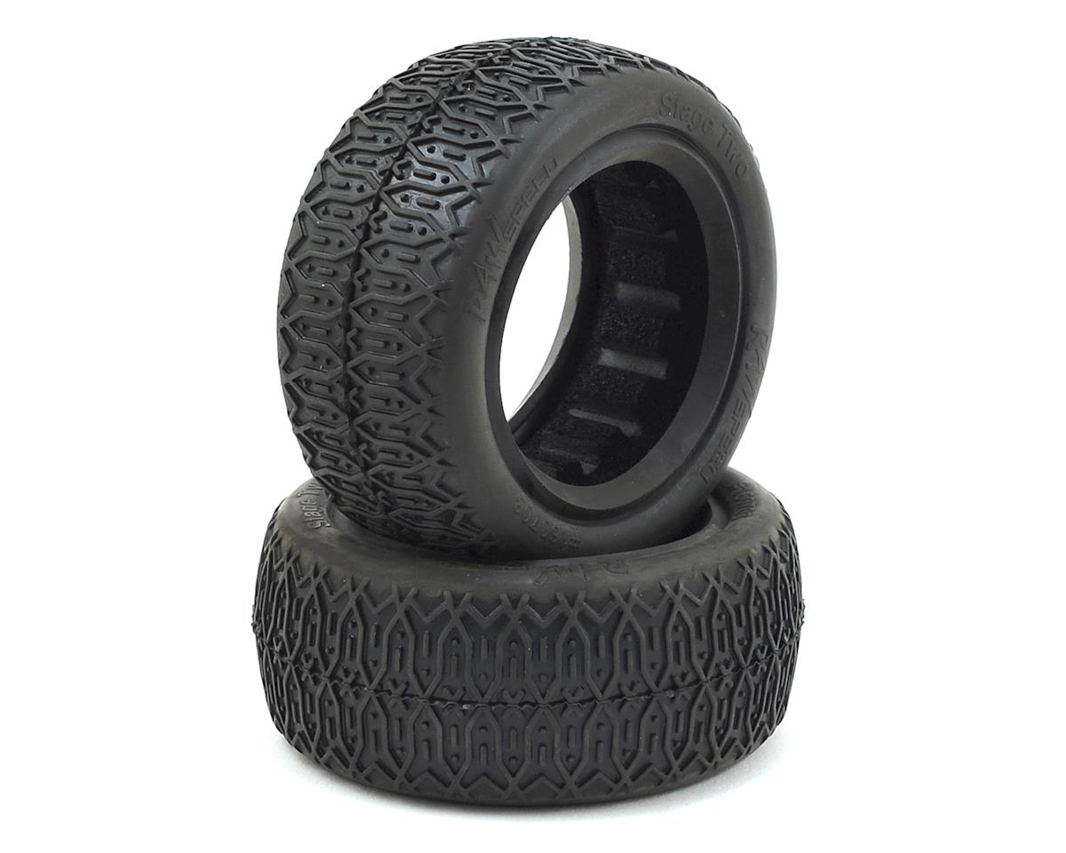Raw Speed RC Stage Two Front 4WD Buggy Tires (2) (Super Soft)