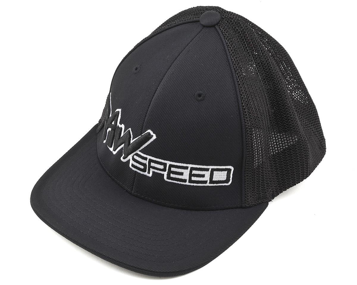 Raw Speed RC Curved Bill Mesh Back Flex Fit Cap (Black) (S/M)