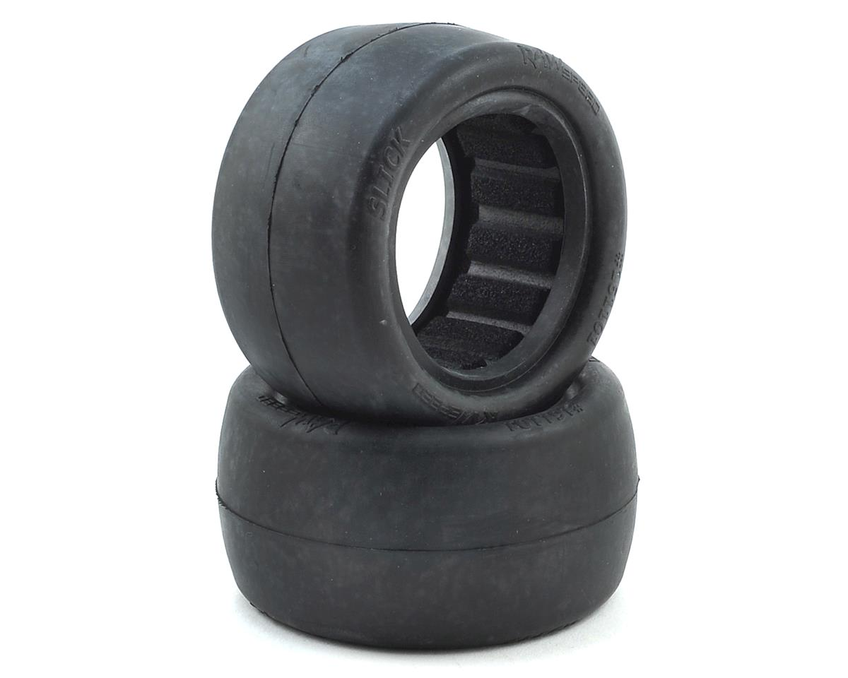 "Raw Speed RC Slick 2.2"" 1/10 Rear Buggy Tires (2) (Clay)"