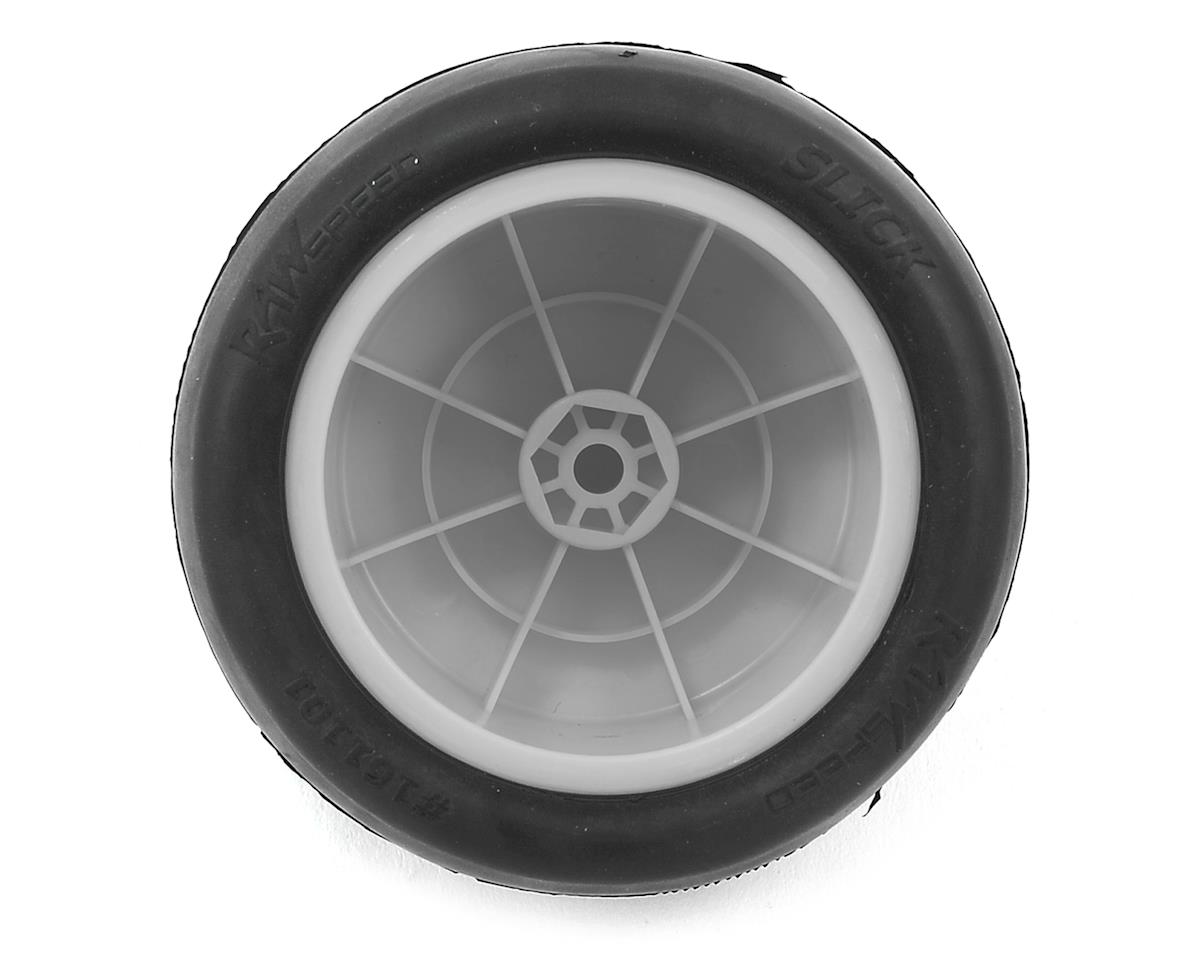 "Raw Speed RC ""Slick"" 2.2"" 1/10 Rear Buggy Pre-Mounted Tires (White) (2) (Clay)"