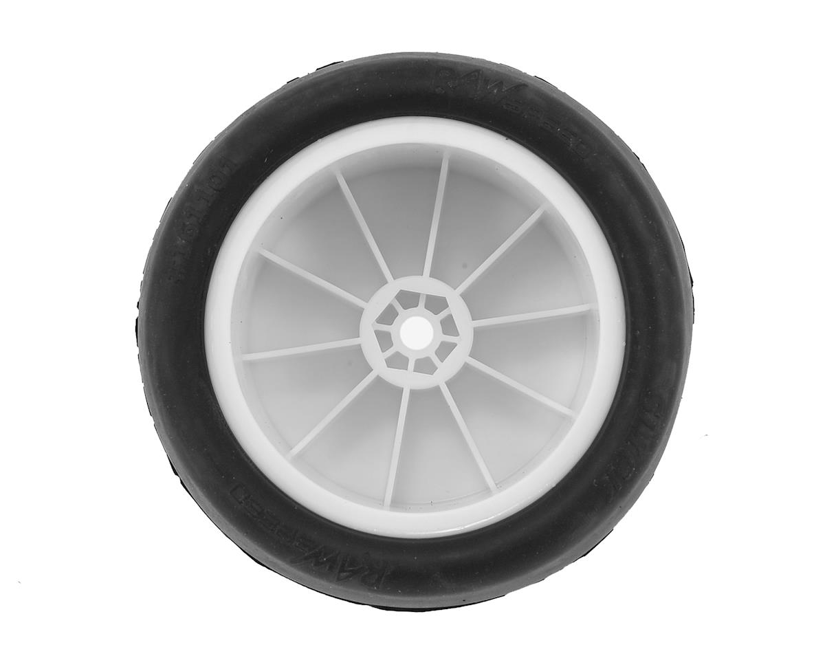 "Raw Speed RC ""Slick"" 2.2"" 1/10 Rear Buggy Pre-Mounted Tire (2) (White) (Clay)"