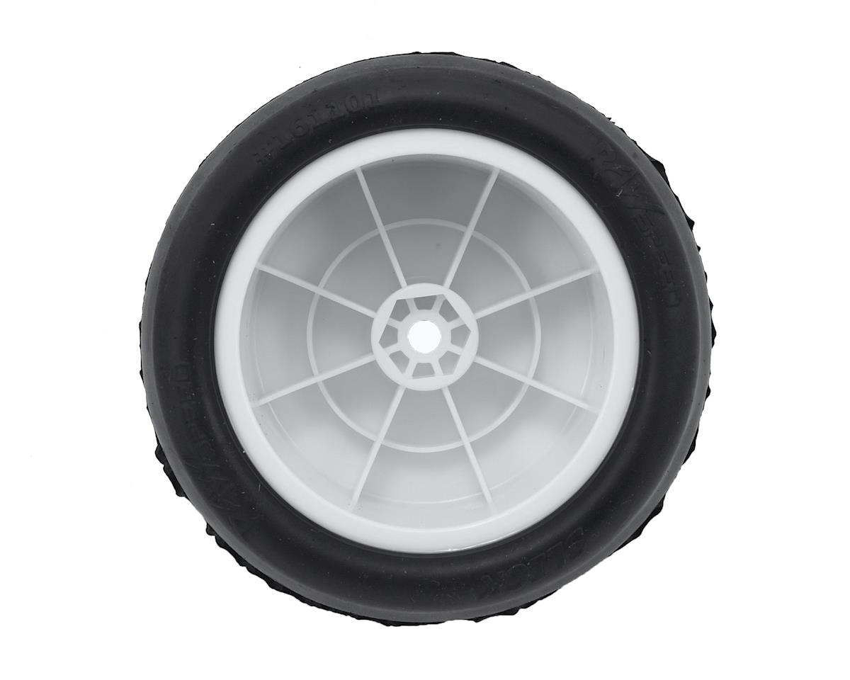 "Raw Speed RC ""Slick"" 2.2"" 1/10 Rear Buggy Pre-Mounted Tires (White) (2) (Super Soft)"