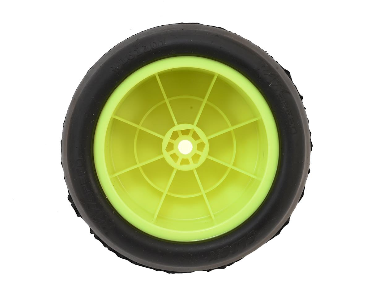 "Raw Speed RC ""Slick"" 2.2"" 1/10 Rear Buggy Pre-Mounted Tires (Yellow) (2) (Super Soft)"