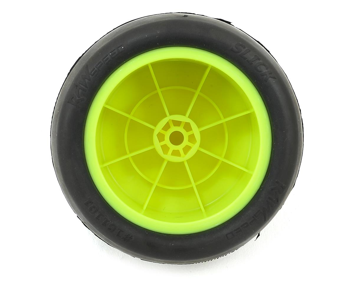 "Raw Speed RC ""Slick"" 2.2"" 1/10 Rear Buggy Pre-Mounted Tires (Yellow) (2) (Soft)"