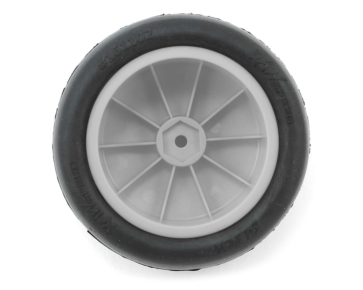 """Slick"" 2.2"" 1/10 2WD Front Pre-Mounted Tire (White) (2) (Clay) by Raw Speed RC"