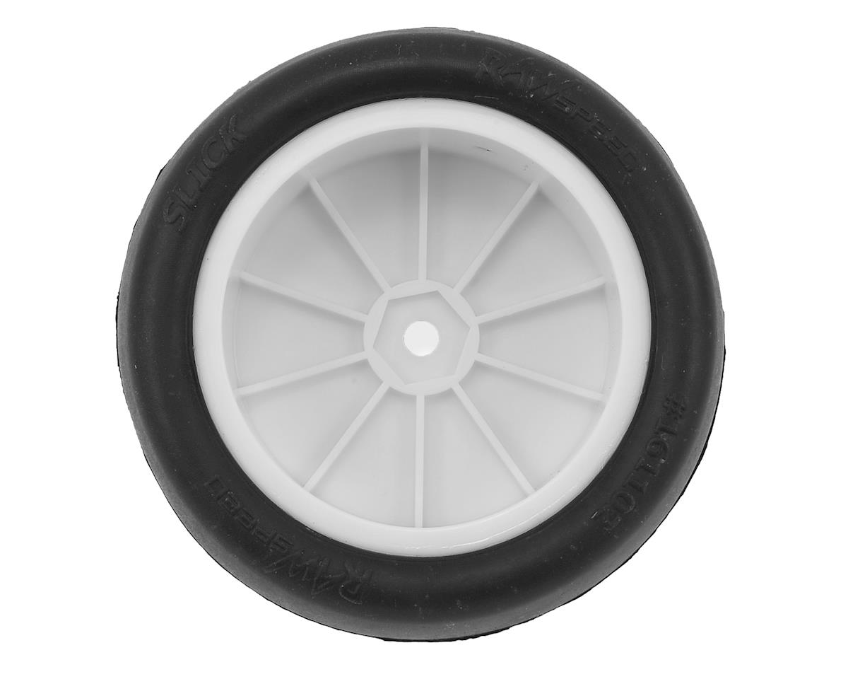 "Raw Speed RC ""Slick"" 2.2"" 1/10 2WD Front Pre-Mounted Tire (White) (2) (Clay)"