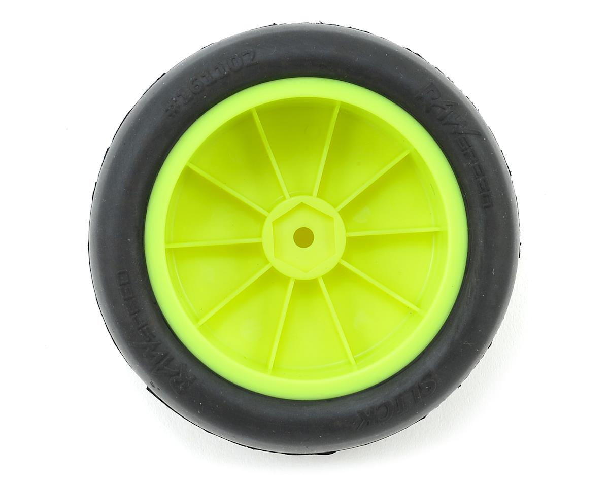"Raw Speed RC ""Slick"" 2.2"" 1/10 2WD Front Pre-Mounted Tire (Yellow) (2) (Clay)"