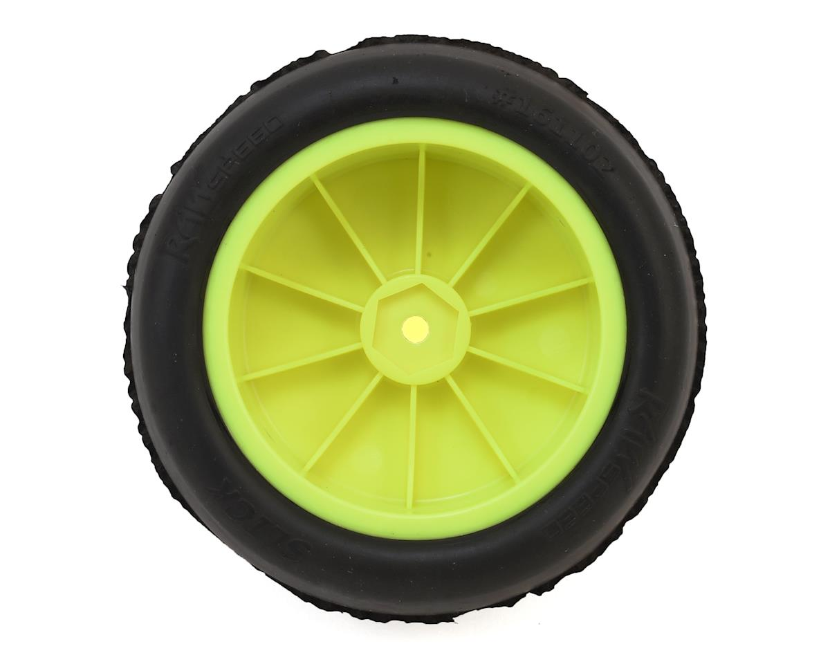 "Raw Speed RC ""Slick"" 2.2"" 1/10 2WD Front Pre-Mounted Tire (Yellow) (2) (Super Soft)"