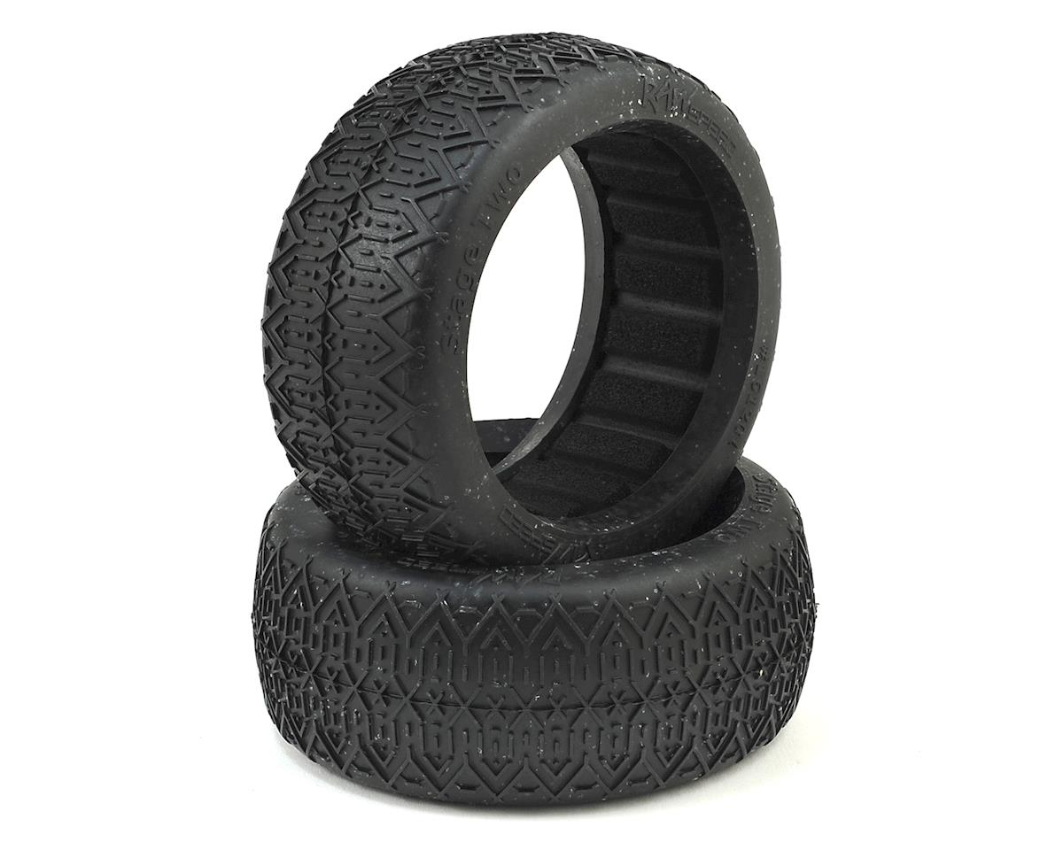 Raw Speed RC Stage Two 1/8 Buggy Tires (2) (Clay)