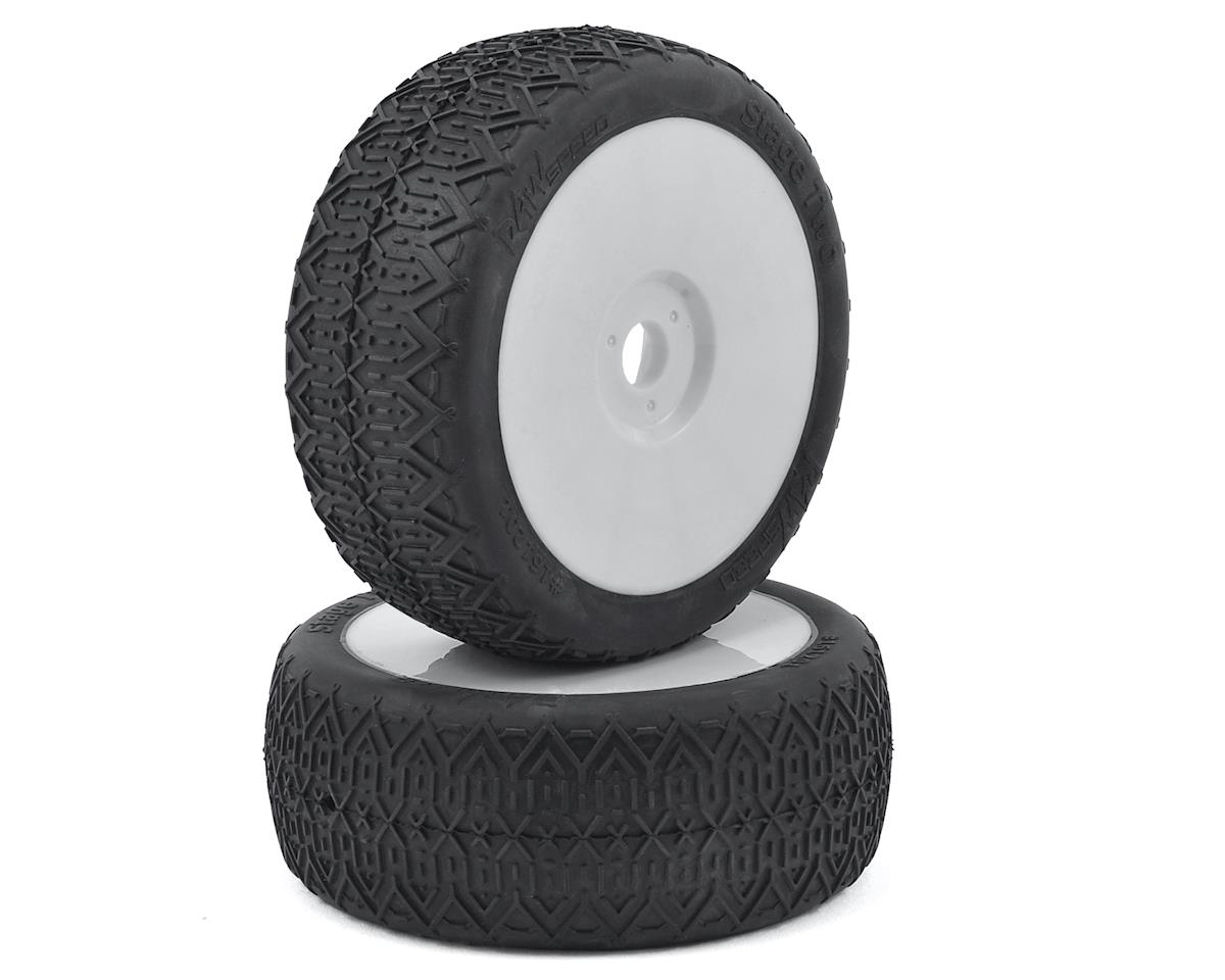 "Raw Speed RC ""Stage Two"" 1/8 Buggy Pre-Mounted Tires (2) (White)"
