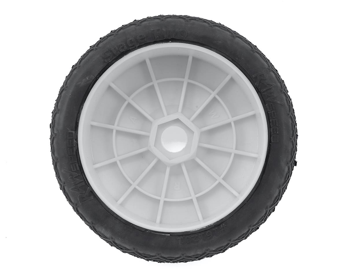 Raw Speed RC Stage Two 1/8 Buggy Pre-Mounted Tires (2) (White) (Super Soft)
