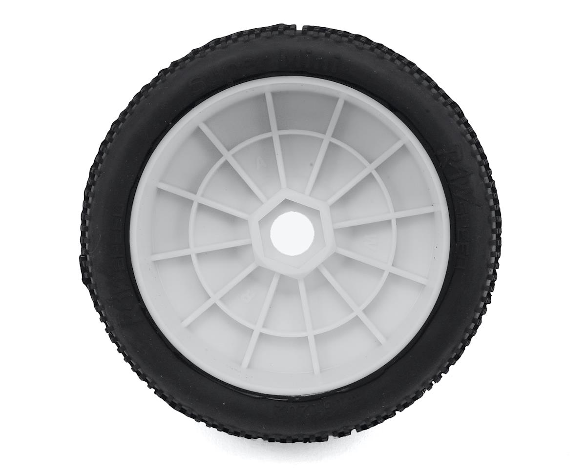"Raw Speed RC ""Super Mini"" 1/8 Buggy Pre-Mounted Tires (2) (White) (Super Soft)"