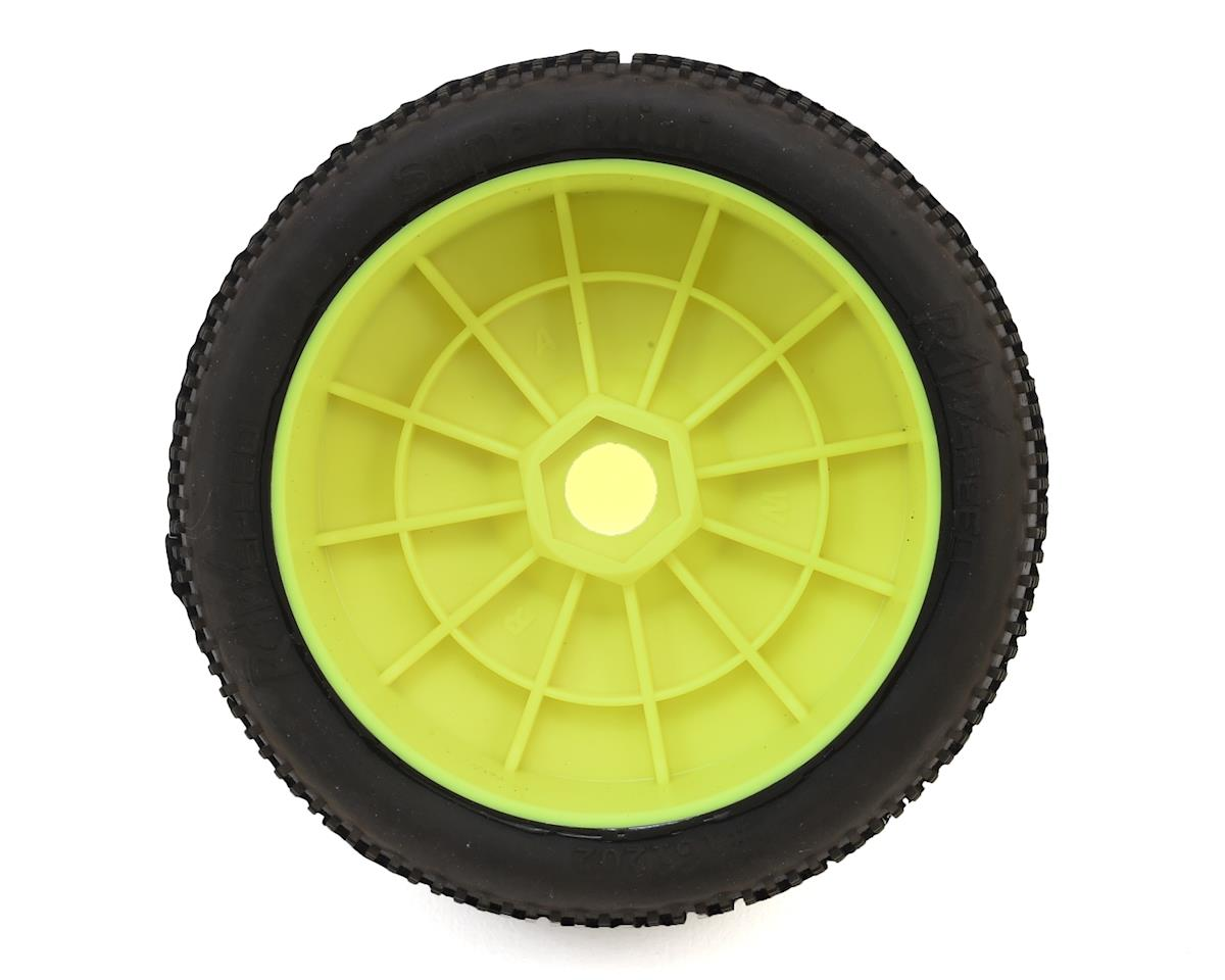 "Raw Speed RC ""Super Mini"" 1/8 Buggy Pre-Mounted Tires (2) (Yellow) (Super Soft)"