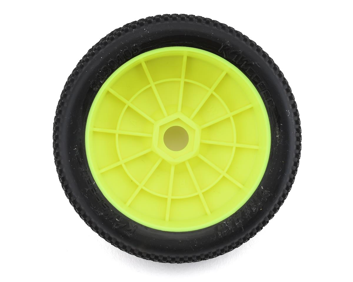 "Raw Speed RC ""Villain"" 1/8 Pre-Mounted Buggy Tires (2) (Yellow) (Super Soft)"