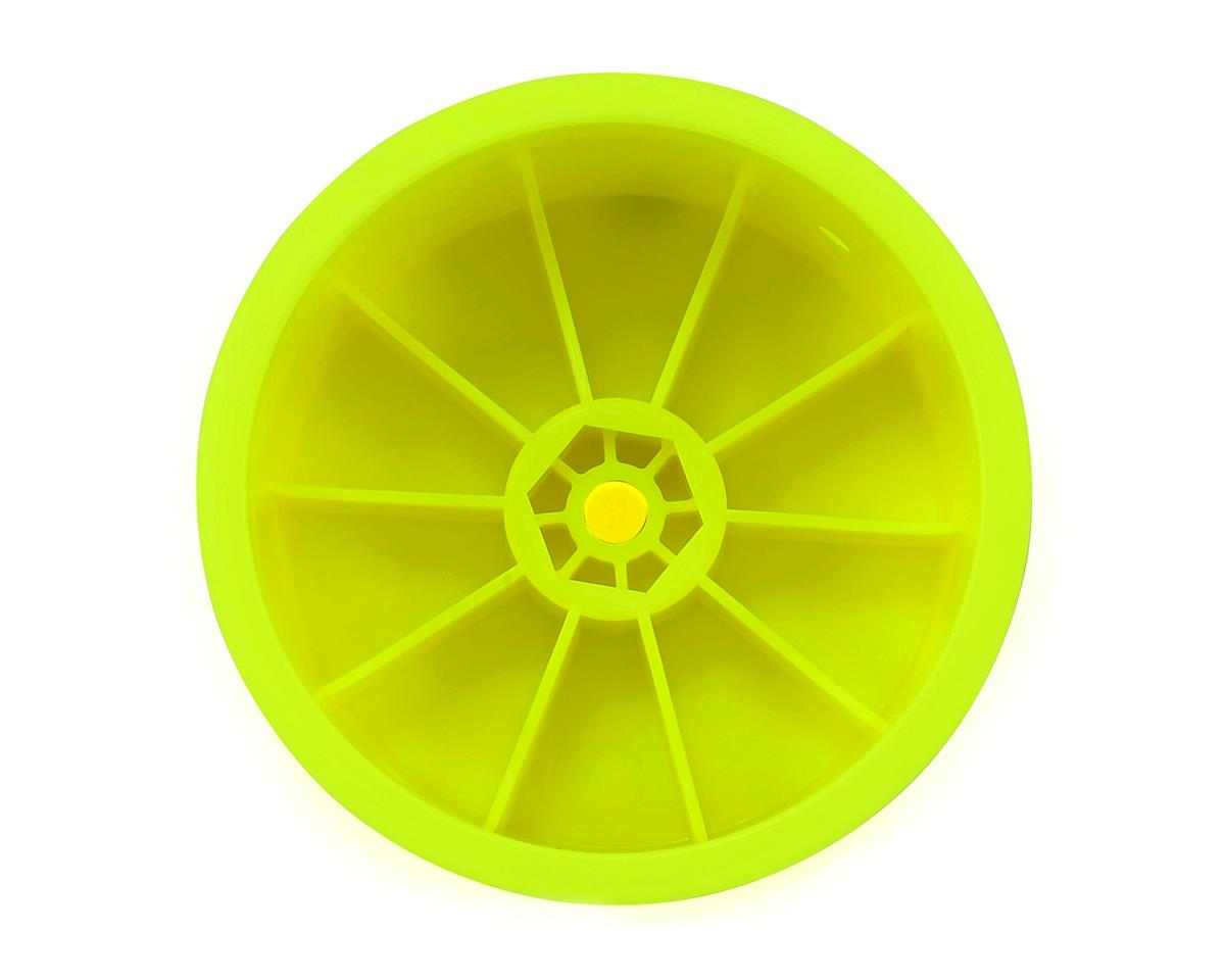 "Raw Speed RC 2.2"" 1/10 Buggy Rear Wheels (Yellow) (2) (TLR/D216)"