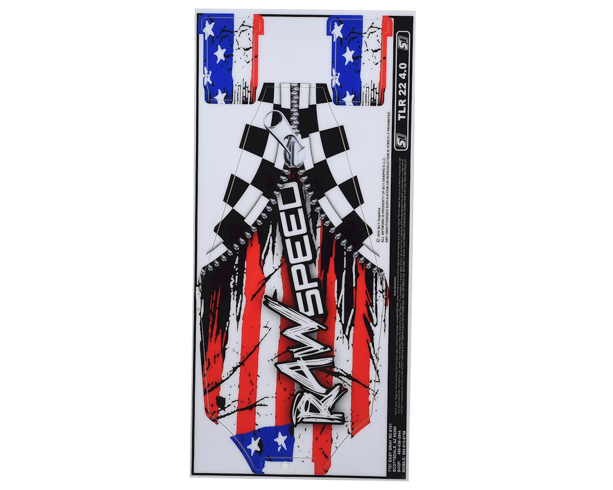 Raw Speed RC TLR Losi 22 4.0 Chassis Protector (Flag)