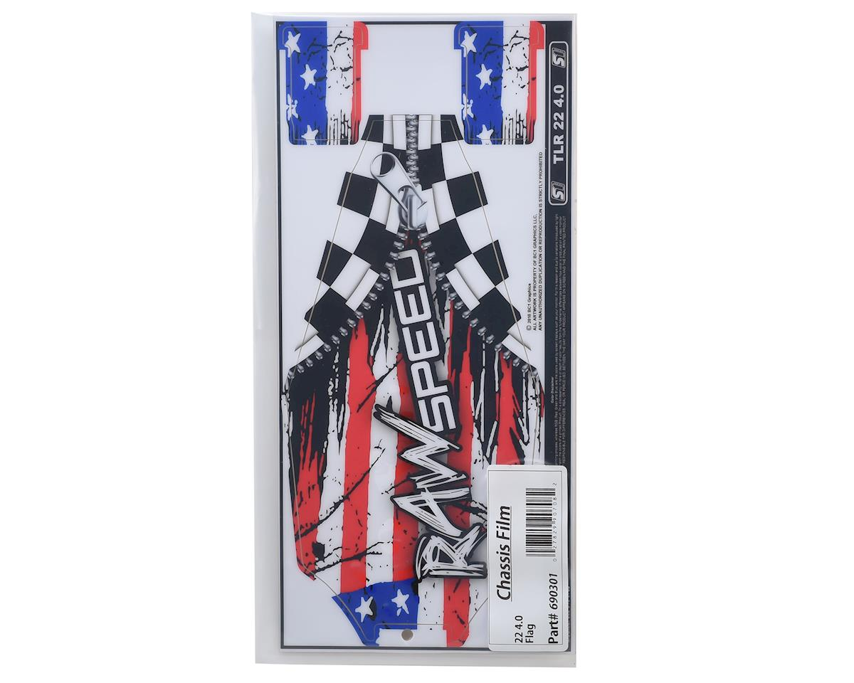 Raw Speed RC TLR 22 4.0 Chassis Protector (Flag)